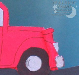 Car Crunch Floating Card - Closeup
