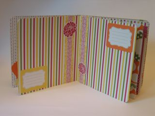 Inside scrapbook from board book - 2
