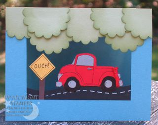 Car Crunch Floating Card