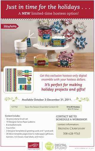 Hostess Special My Digital Studio Holiday Package