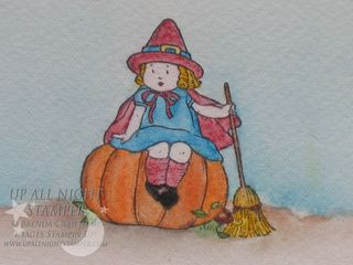 Pumpkin witch closeup