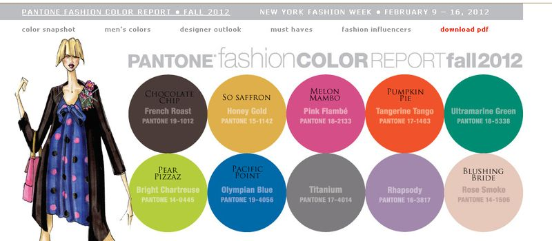Pantone Fall SU colors