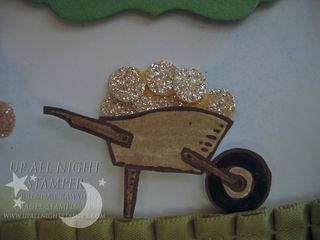 Gnome Leprechaun Wheelbarrow Closeup